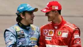 Schumacher y Fernando Alonso