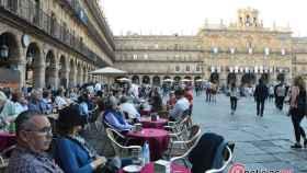 turistas plaza mayor salamanca