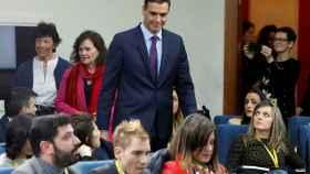 Comparecencia del presidente del Gobierno este viernes en el Palacio de la Moncloa.
