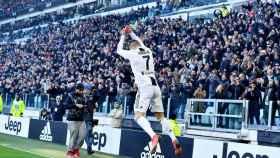 Cristiano celebra un gol con la Juventus ante la Sampdoria