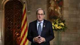 Quim Torra, president de la Geeneralitat, durante su discurso de fin de año.