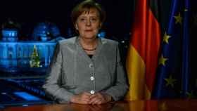 Angela Merkel, durante el mensaje de Fin de Año.