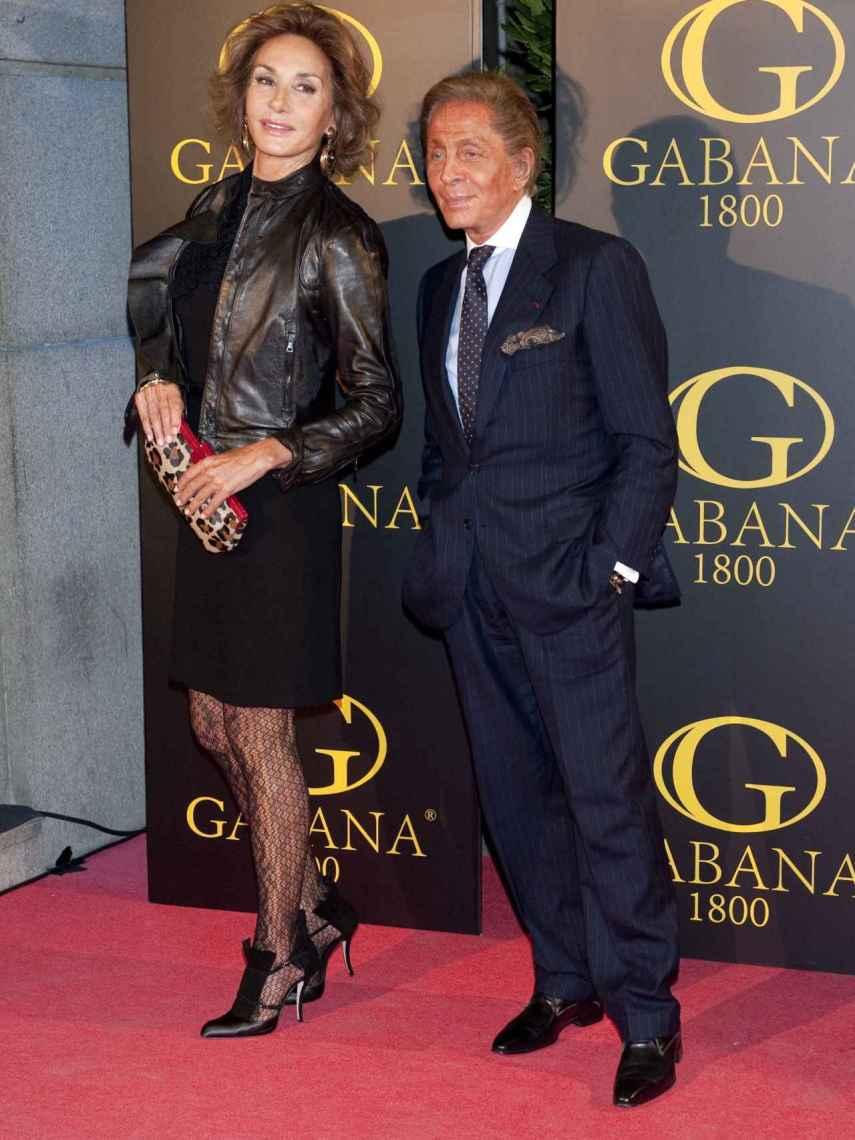 Naty Abascal con Valentino.