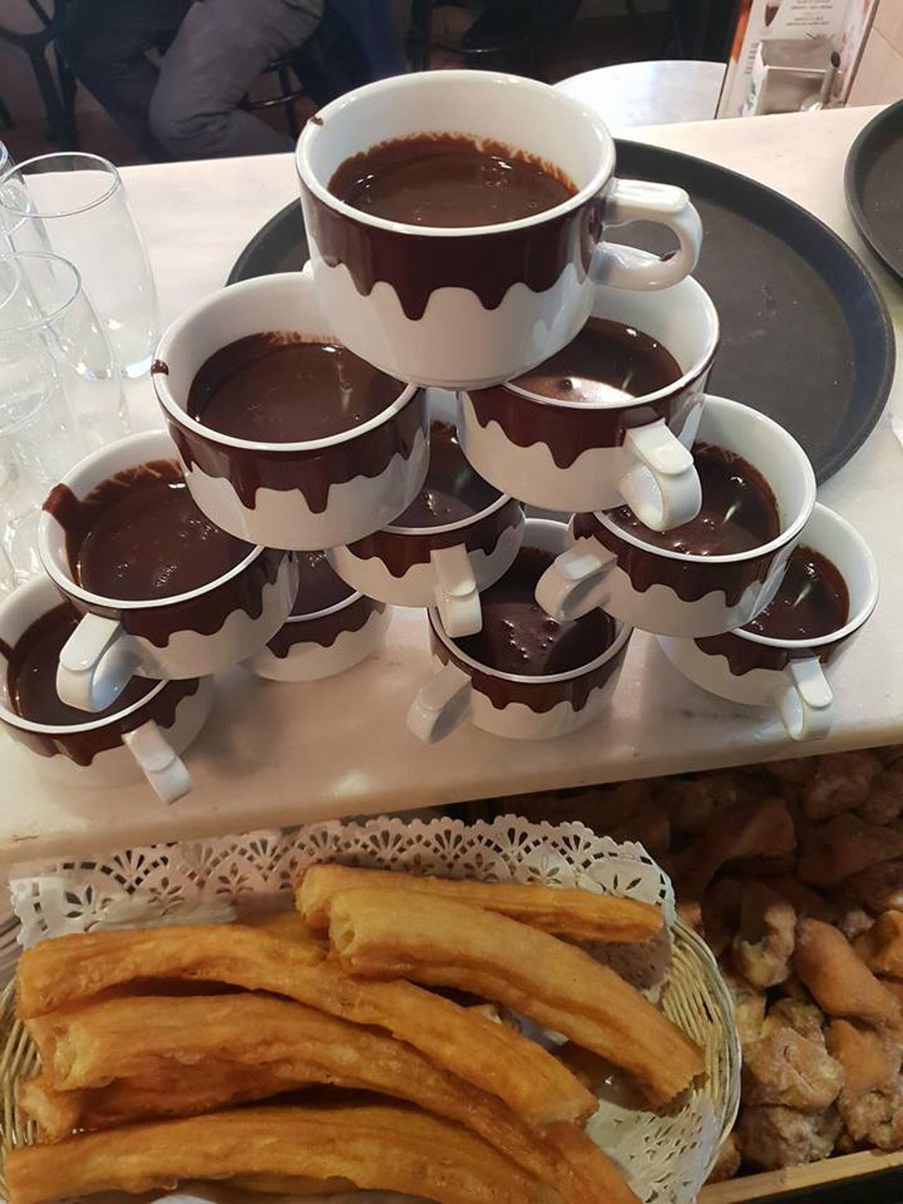 Los mejores chocolates con churros - Chocolat