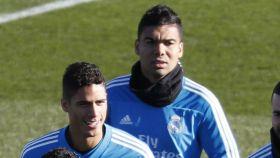 Casemiro entrena con el Real Madrid