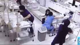 La increíble reacción de estas enfermeras de neonatos durante un terremoto