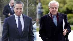 El exministro Eduardo Zaplana (i) y el exdiputado navarro Jaime Ignacio del Burgo.