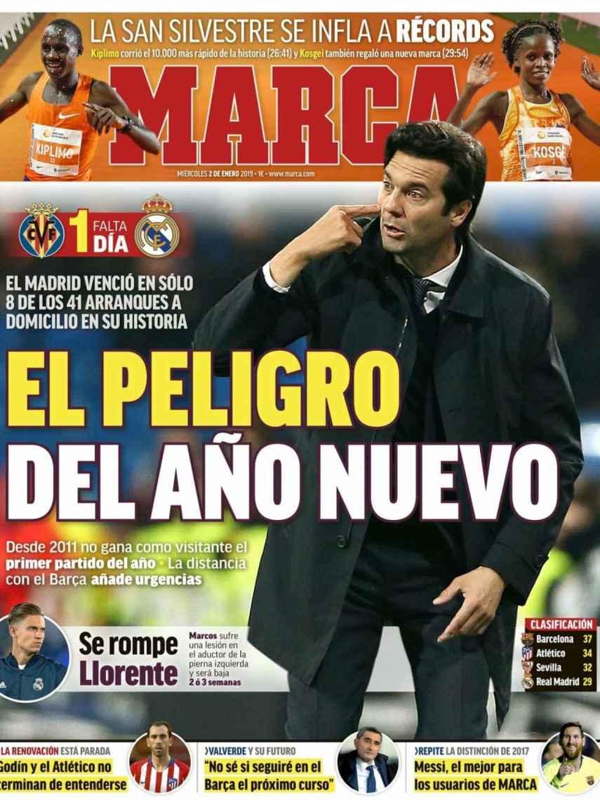 La portada del diario MARCA (02/01/2019)
