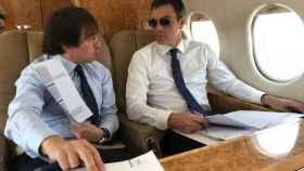 Pedro Sánchez en el polémico viaje a Castellón en avión privado.