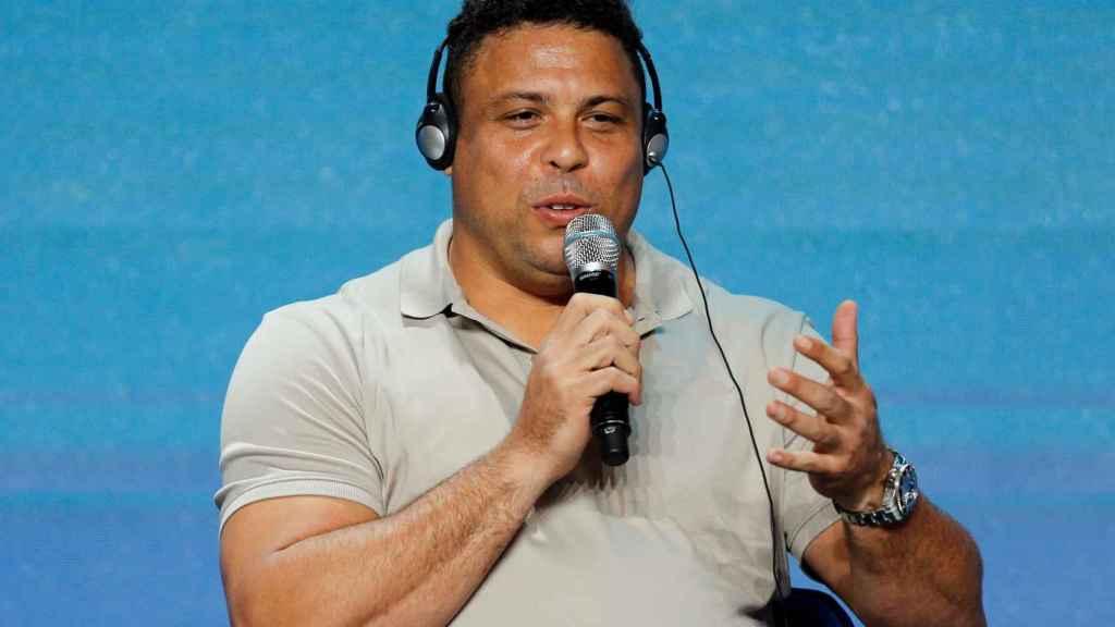 Ronaldo, durante la Conferencia Internacional de Deportes de Dubai
