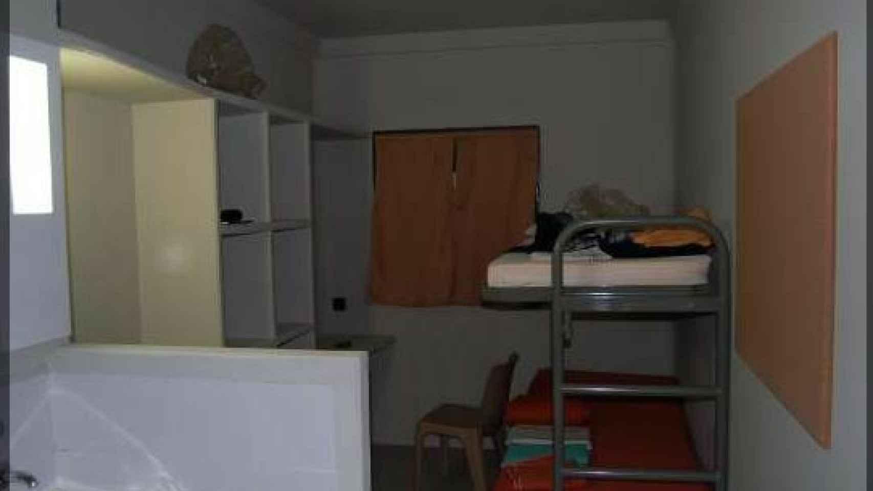 Imagen de una de las celdas del centro penitenciario de Lledoners.