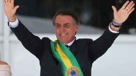 Bolsonaro durante la ceremonia de investidura.