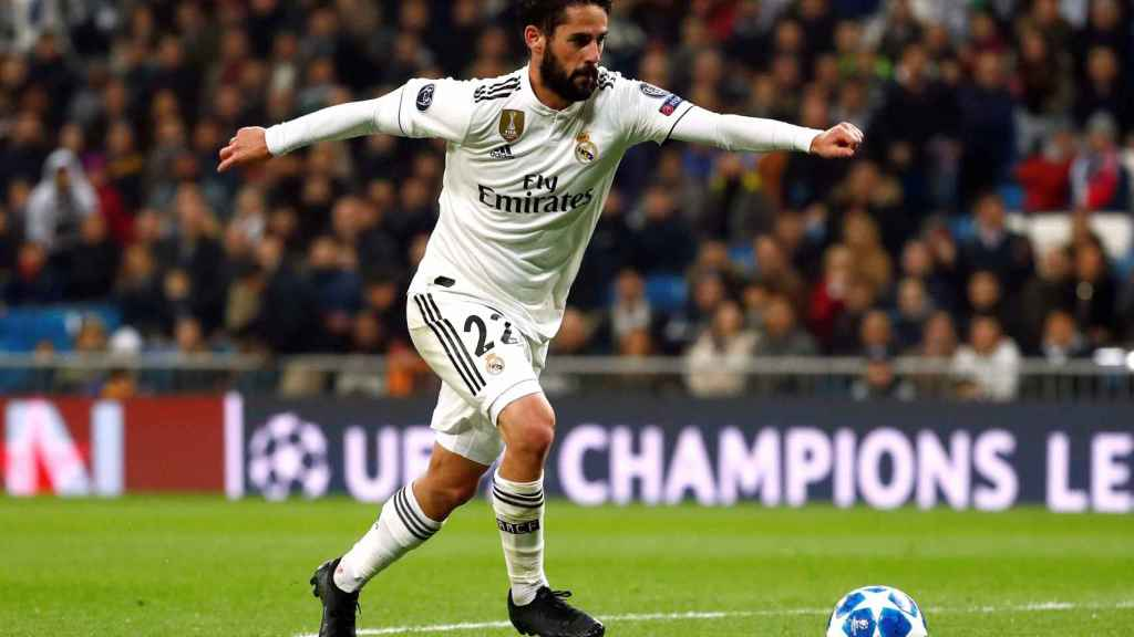FILE PHOTO: Real Madrid's Isco in Champions League action against CSKA Moscow