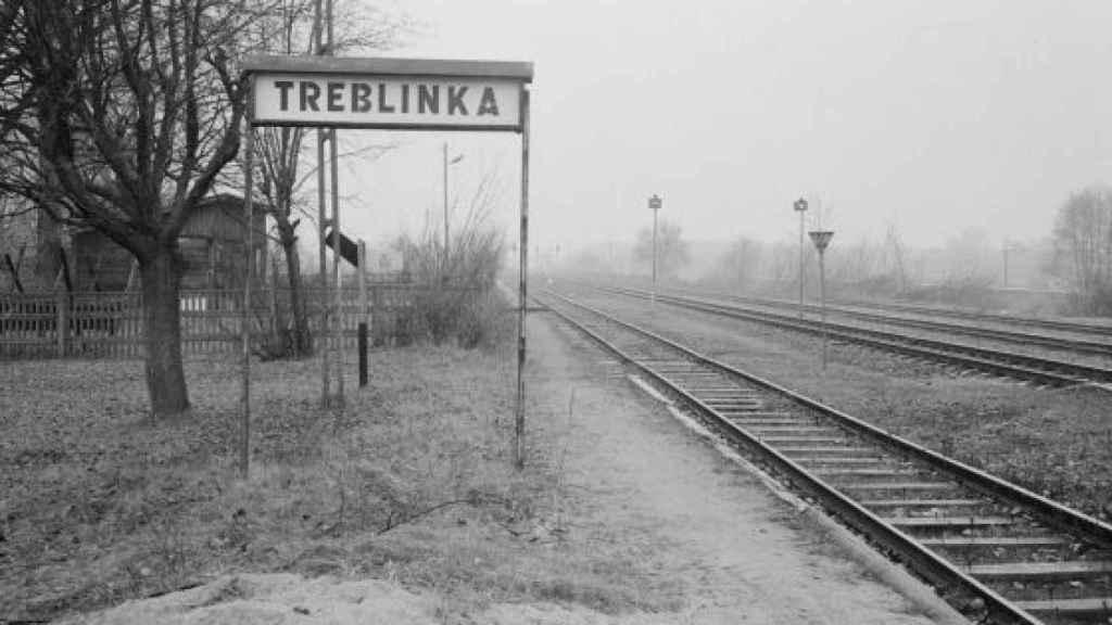 Vías del tren que conducían a los judíos al campo de exterminio de Treblinka.