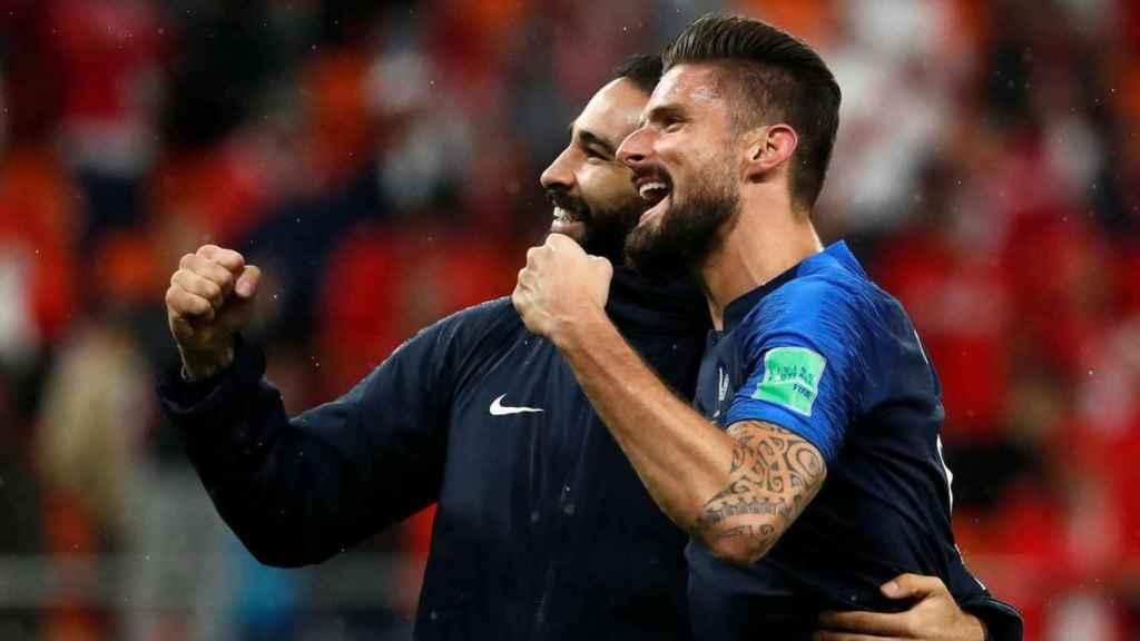 Rami celebra el Mundial de Rusia junto a Giroud