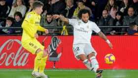 Marcelo centra un balón al área del Villarreal