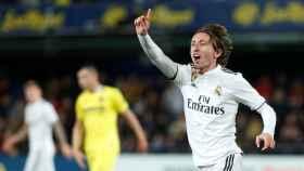 Luka Modric durante el partido frente al Villarreal