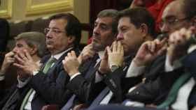 Presidentes autonómicos en el Congreso de los Diputados durante el acto de 40 aniversario de la Constitución.