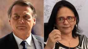 Jair Bolsonaro y Damares Alves.