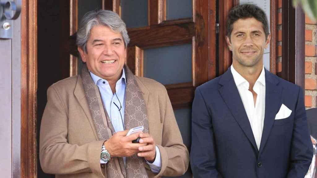 José Verdasco y su hijo en un montaje de JALEOS.