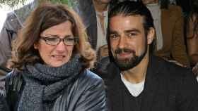 Santina D'Alessandro y su hijo Mario Biondo, en un montaje de JALEOS.