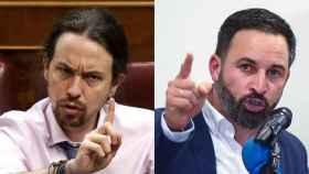 Pablo Iglesias y Santiago Abascal.