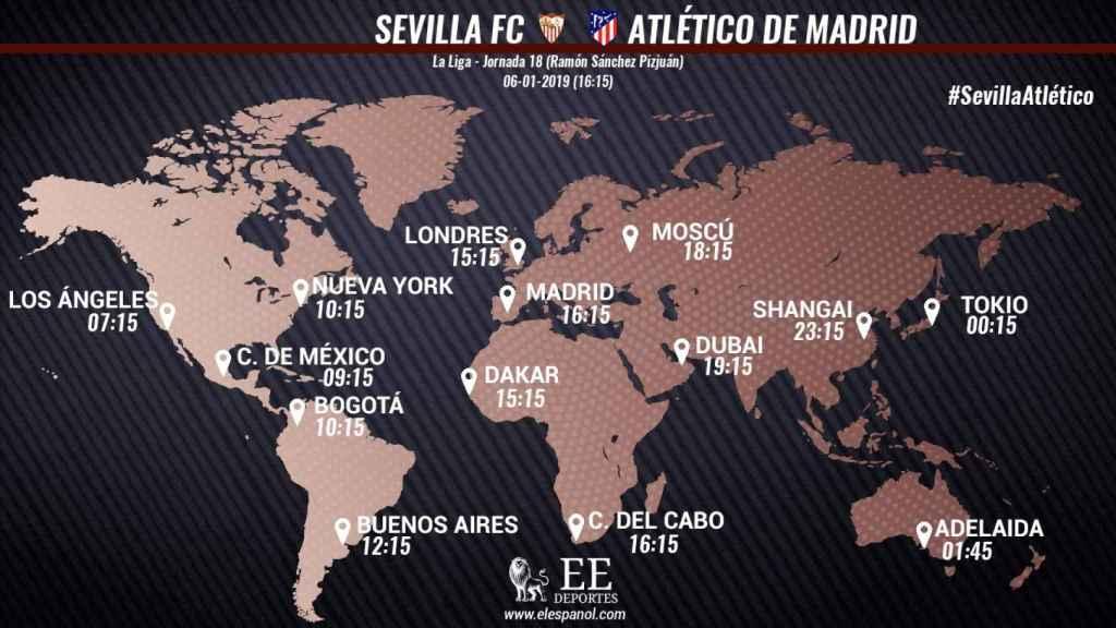Horario Sevilla - Atlético de Madrid