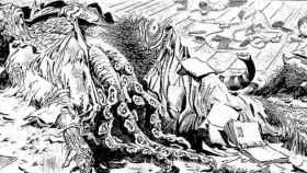 Viñeta de 'Los mitos de Cthulhu', de H.P. Lovecraft y Alberto Breccia