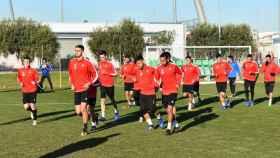 Los jugadores del Reus en un entrenamiento. Foto: Twitter (@cfreusdeportiu)