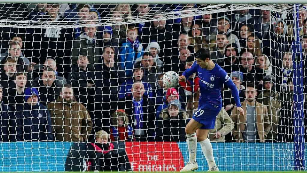 Morata, delantero del Chelsea, en el partido ante el Nottingham Forest