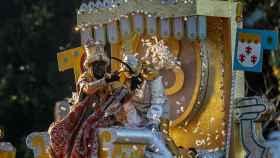 El Rey Baltasar durante la Cabalgata de Reyes Magos de Sevilla  en una imagen de archivo.
