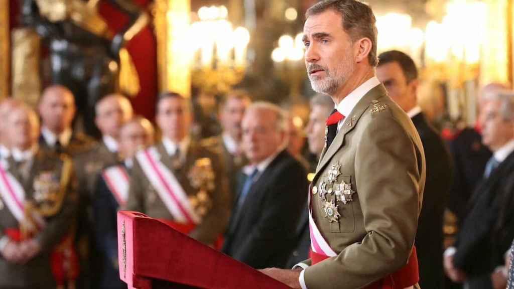 Felipe VI, en su discurso en la Pascua Militar de 2019