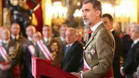 Felipe VI, en su discurso en la Pascua Militar.