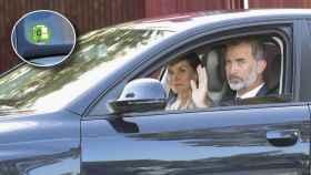 Felipe VI y Letizia a bordo del Audi.