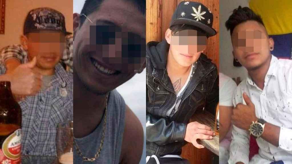 Los cuatro presuntos violadores a los que el juez envió a prisión tras agredir sexualmente a una joven de 19 años.