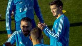 Brahim Díaz, protagonista en su primer entrenamiento con el Real Madrid