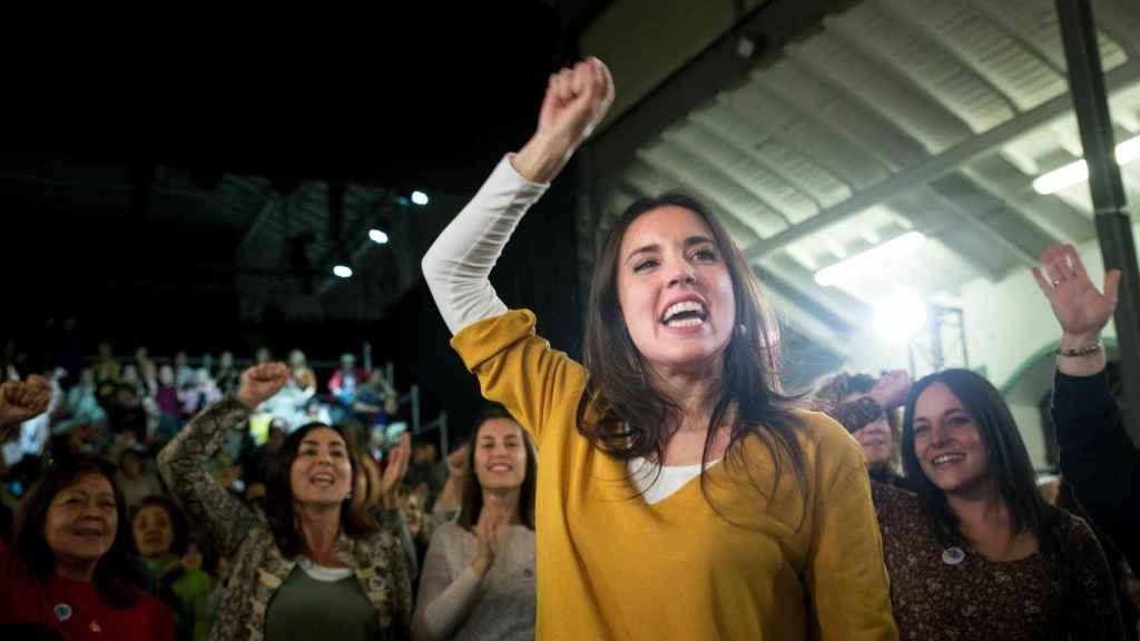 Montero, durante un acto de campaña electoral.