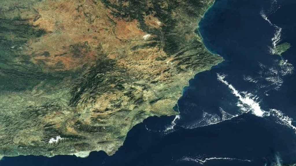 Imagen de la costa levantina española tomada por el satélite de la ESA.