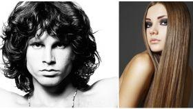 Dos ejemplos de estilos de peinado.
