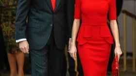 Los Reyes, el pasado jueves, durante la entrega de los Premios Nacionales del Deporte en el Palacio del Pardo.