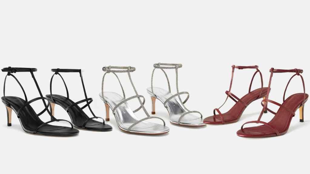 Sandalias de tiras de Zara.