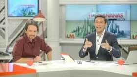 Javier Ruiz junto a Pablo Iglesias.
