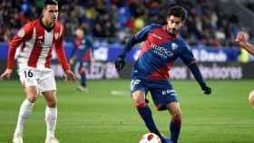 Lluis Sastre, durante un partido con el Huesca