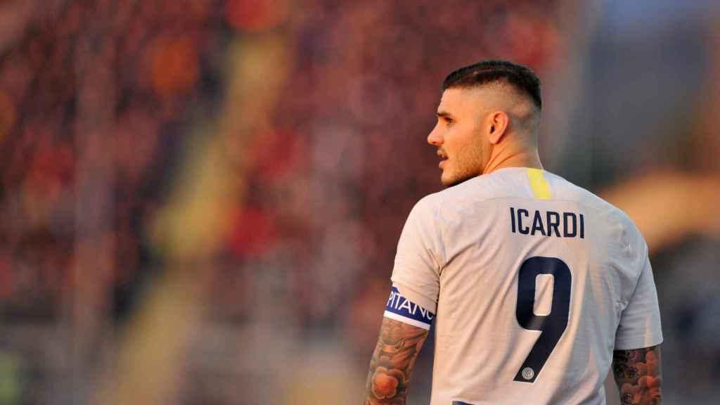 Mauro Icardi, en un partido del Inter de Milán