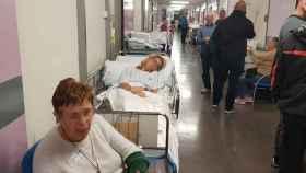 Pasillos de urgencias en un hospital público de Madrid durante esta semana.