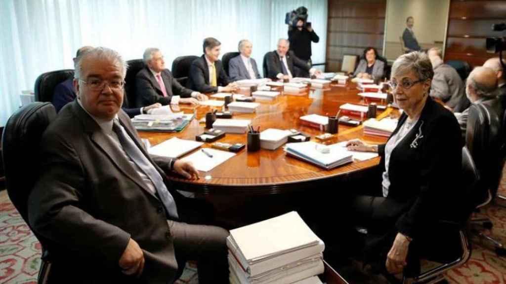 El presidente del TC, Juan José González Rivas, en una reunión del pleno del tribunal./