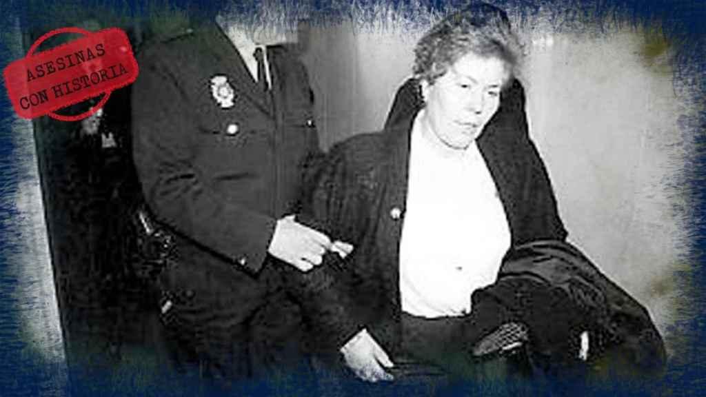 Isabel Padilla en una imagen de su detención tras haber matado a su marido y sus dos hijos