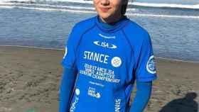 Marta Paço antes de un torneo. Foto: Facebook (Federaçao Portuguesa de Surf)