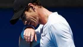 Murray, durante un entrenamiento en el Abierto de Australia.