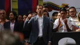 El presidente del Parlamento venezolano, Juan Guaidó